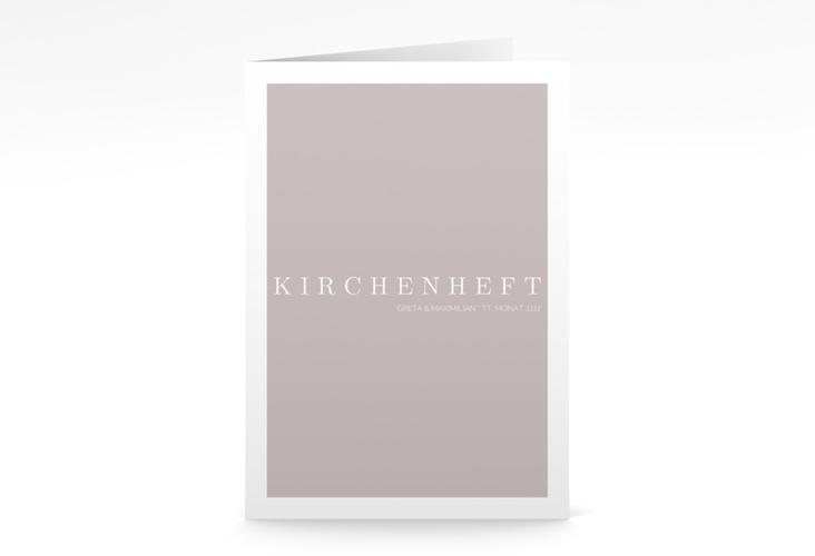 "Kirchenheft Hochzeit ""Simply"" DIN A5 geklappt grau"
