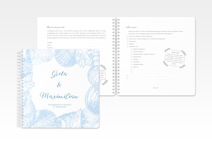 """Trautagebuch Hochzeit """"Muschelreich"""" Trautagebuch Hochzeit"""