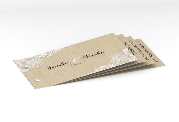 """Hochzeitseinladung """"Lace"""" Booklet"""