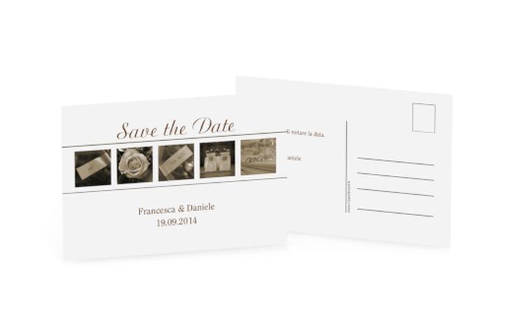 Biglietti Save the Date collezione Valencia A6 Postkarte