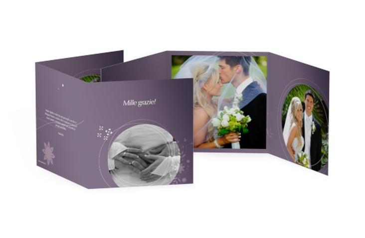 Ringraziamenti matrimonio collezione Siena Quadr. Karte doppelt