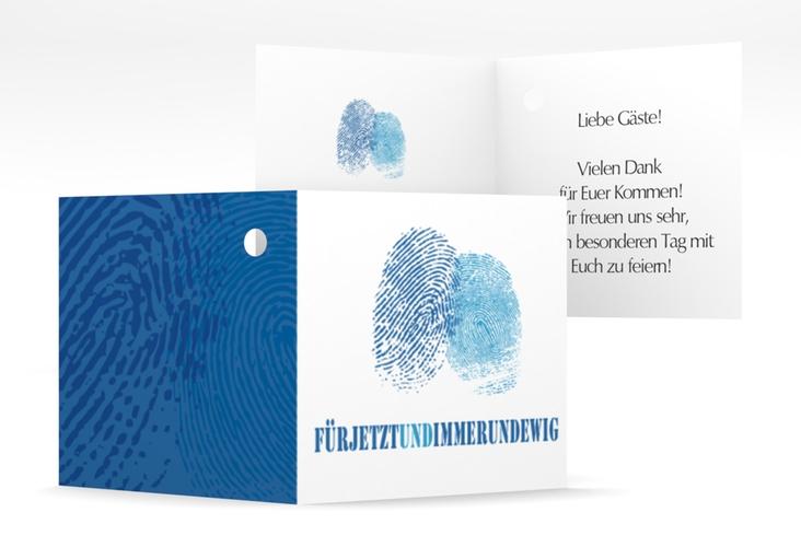 """Geschenkanhänger Hochzeit """"Messina"""" Geschenkanhänger 10er Set blau"""