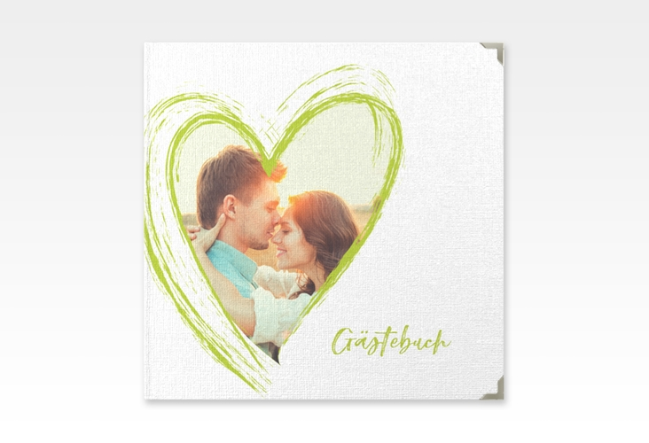 "Gästebuch Selection Hochzeit ""Liebe"" Leinen-Hardcover gruen"
