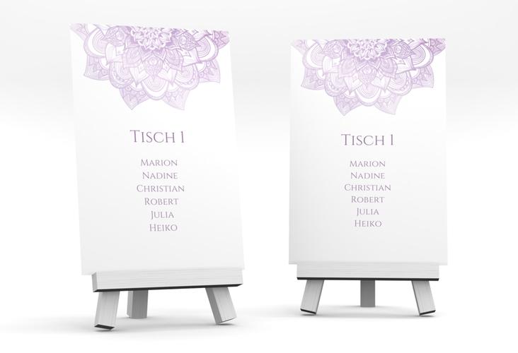 """Tischaufsteller Hochzeit """"Delight"""" Tischaufsteller flieder"""