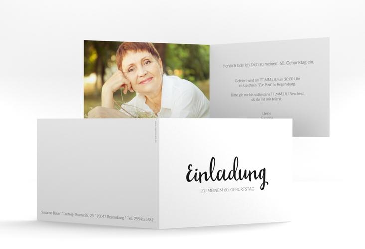 "Einladungskarte ""Handwriting"" A6 Klappkarte Quer"