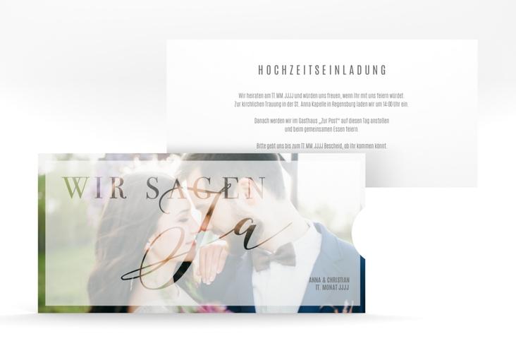 """Hochzeitseinladung """"Amazing"""" Einsteckkarte"""