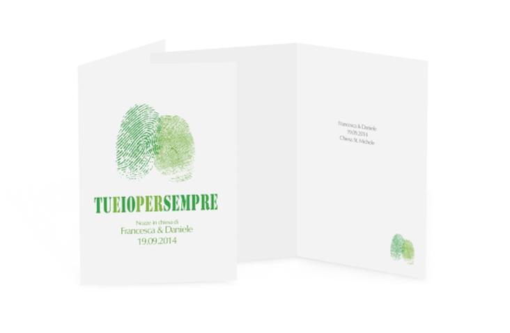 Libro messa matrimonio collezione Messina DIN A5 geklappt verde