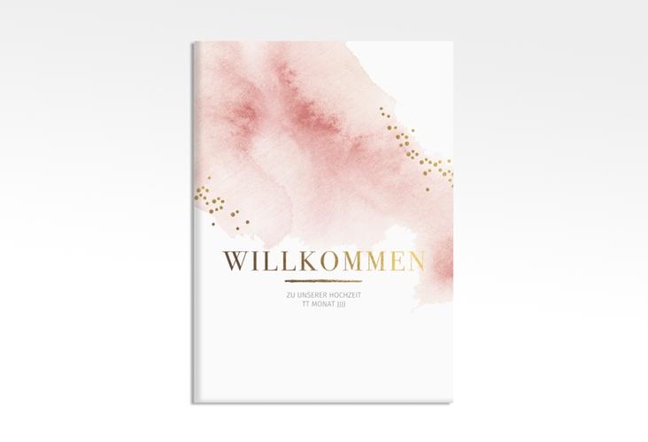 "Willkommensschild Leinwand ""Pastell"" 50 x 70 cm Leinwand rosa"