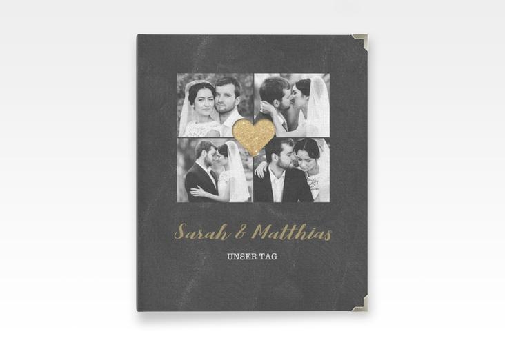 """Hochzeitsalbum """"Sparkly"""" 21 x 25 cm gold"""