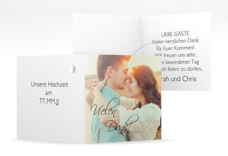 """Geschenkanhänger Hochzeit """"Clarity"""" Geschenkanhänger 10er Set schwarz"""