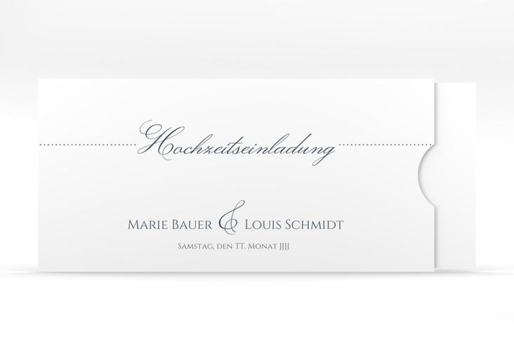 """Hochzeitseinladung """"Pure"""" Einsteckkarte grau"""