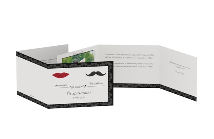 Inviti matrimonio collezione Arezzo A6 doppelt geklappt