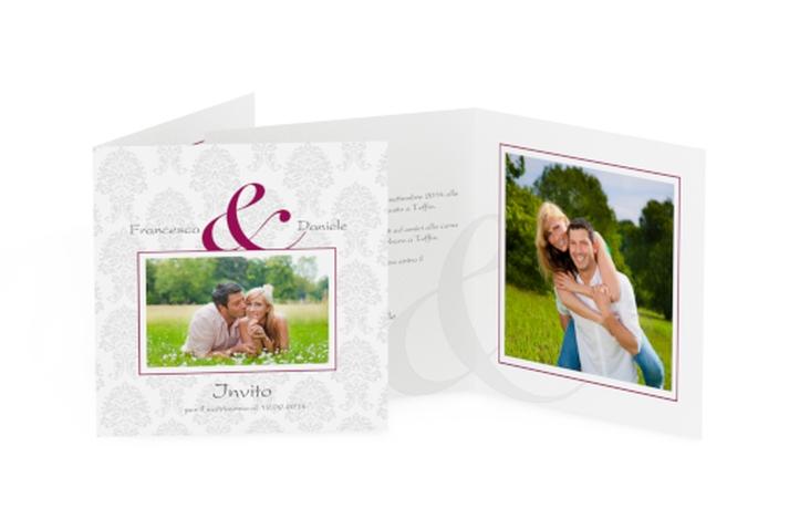 Inviti matrimonio collezione Nantes Quadratische Klappkarte