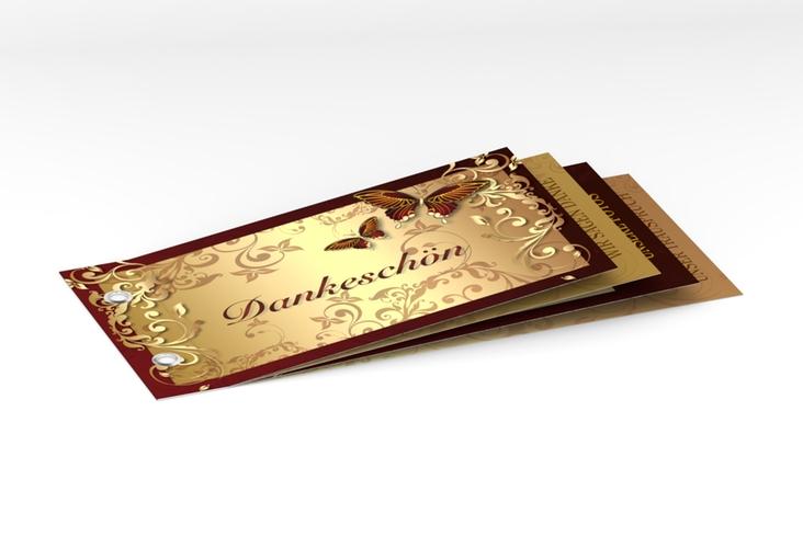 "Danksagungskarte Hochzeit ""Toulouse"" Booklet rot"