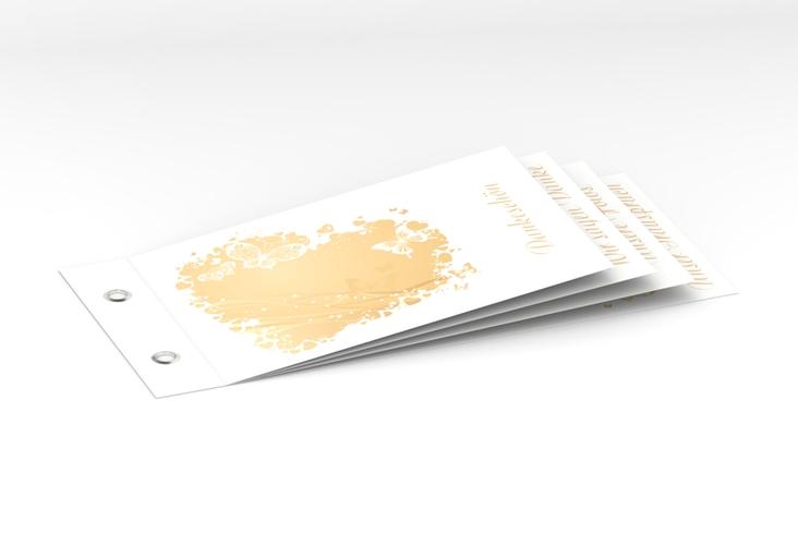 """Danksagungskarte Hochzeit """"Mailand"""" Booklet beige"""