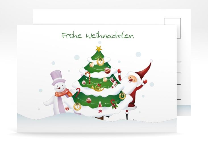 """Weihnachtskarte """"Schneetreiben"""" A6 Postkarte weiss"""