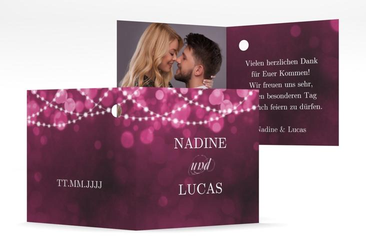 """Geschenkanhänger Hochzeit """"Lichtspiel"""" Geschenkanhänger 10er Set pink"""