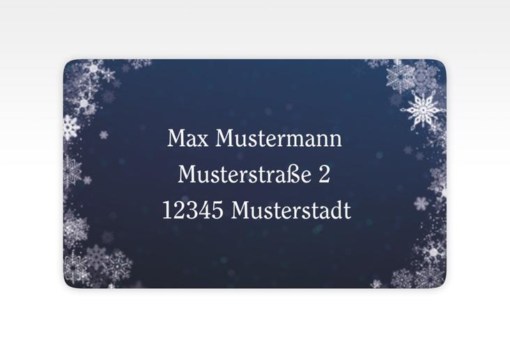 """Empfängeretikett Hochzeit """"Winterdream"""" 63,5 x 38,1 mm"""