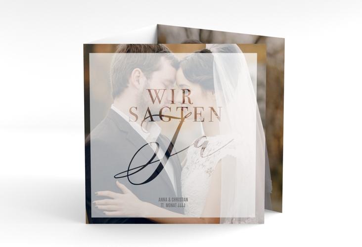 "Danksagungskarte Hochzeit ""Amazing"" Quadr. Karte doppelt weiss"