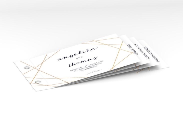 """Hochzeitseinladung """"Asymmetry"""" Booklet weiss"""