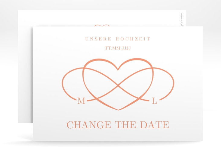 """Change the Date-Karte """"Infinity"""" A6 quer apricot"""