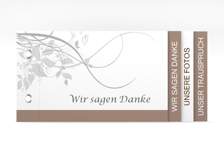 """Danksagungskarte Hochzeit """"Florenz"""" Booklet braun"""