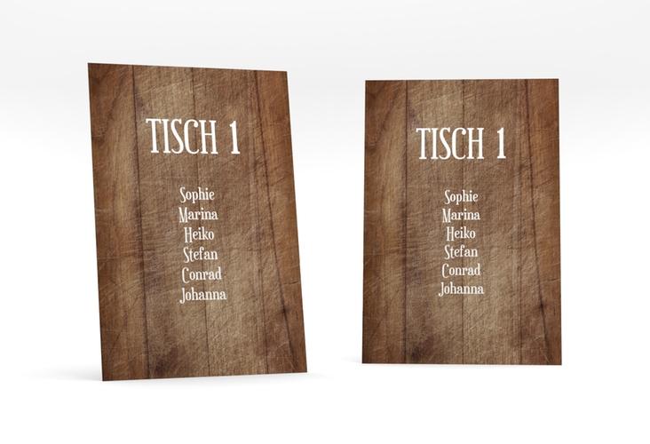 """Tischaufsteller Hochzeit """"Wood"""" Tischaufsteller"""