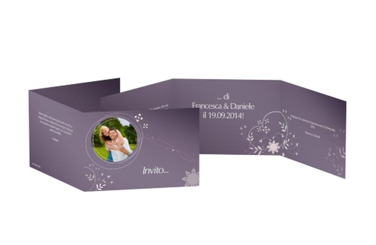 Inviti matrimonio collezione Siena A6 doppelt geklappt lila