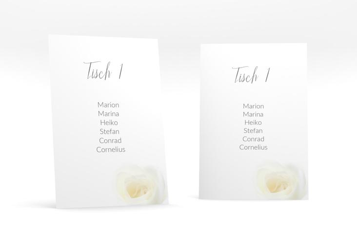 """Tischaufsteller Hochzeit """"Rose"""" Tischaufsteller weiss"""