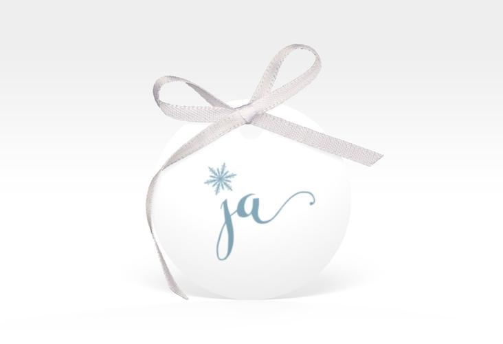 """Geschenkanhänger Hochzeit """"Snowflake"""" Geschenkanhänger, rund"""