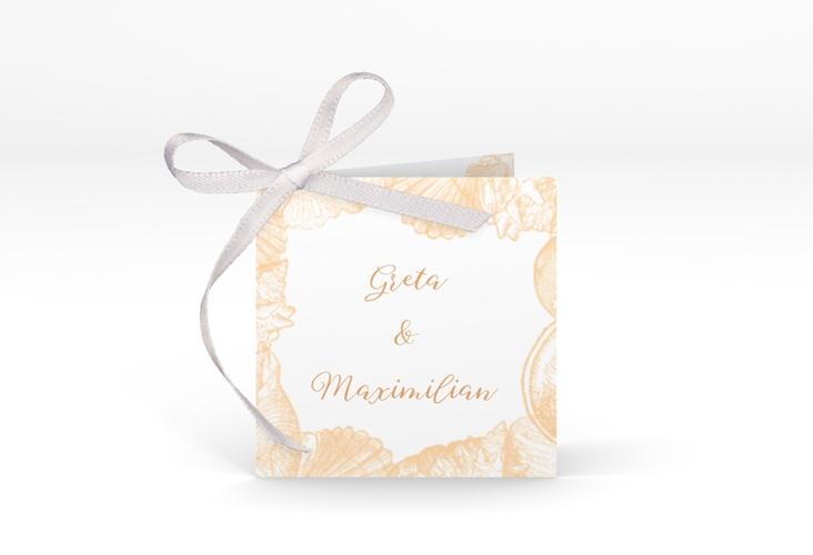 """Geschenkanhänger Hochzeit """"Muschelreich"""" Geschenkanhänger 10er Set beige"""