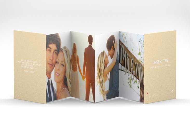"Leporello ""Weddingpass"" Leporello beige"