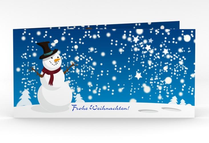 "Weihnachtskarte ""Snowy"" DIN lang Klappkarte"