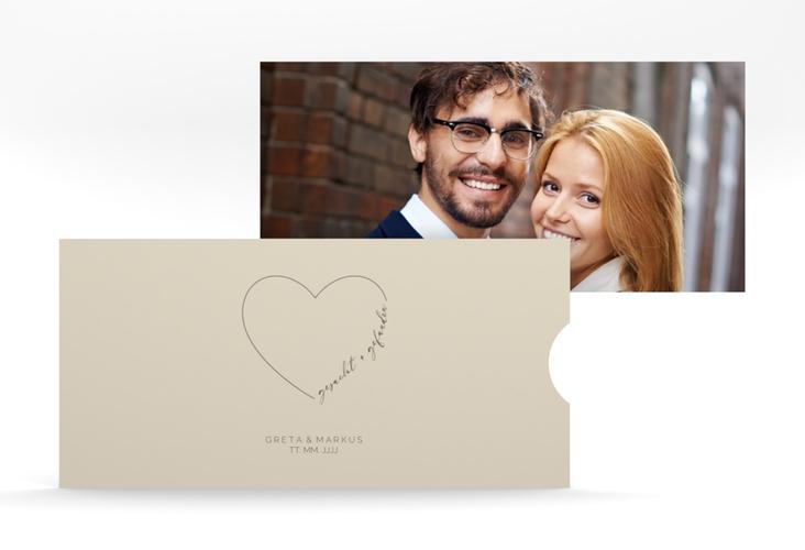 """Hochzeitseinladung """"Lebenstraum"""" Einsteckkarte beige"""