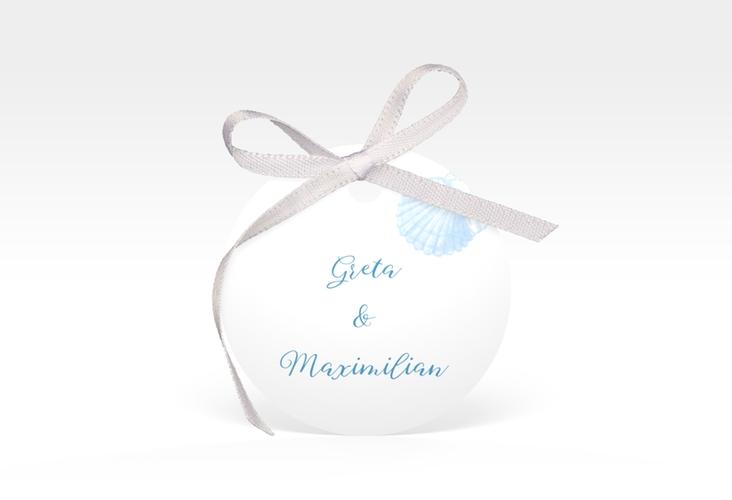 """Geschenkanhänger Hochzeit """"Muschelreich"""" Geschenkanhänger, rund"""