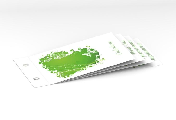 """Hochzeitseinladung """"Mailand"""" Booklet gruen"""