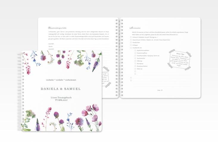 """Trautagebuch Hochzeit """"Wildblumen"""" Trautagebuch Hochzeit"""