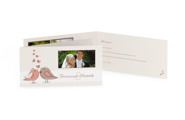 Ringraziamenti matrimonio collezione Venezia DIN lang Klappkarte