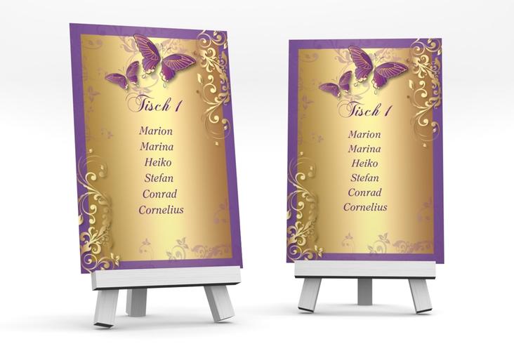 """Tischaufsteller Hochzeit """"Toulouse"""" Tischaufsteller lila"""