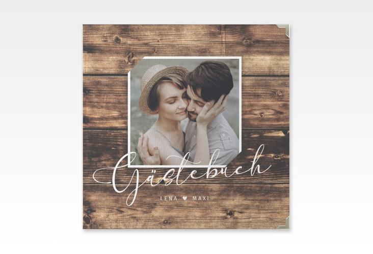 "Gästebuch Selection Hochzeit ""Rustic"" Leinen-Hardcover braun"