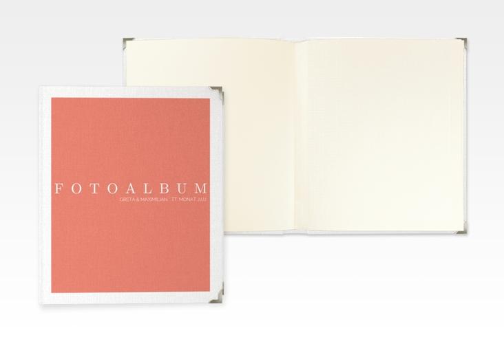 """Hochzeitsalbum """"Simply"""" 21 x 25 cm orange"""