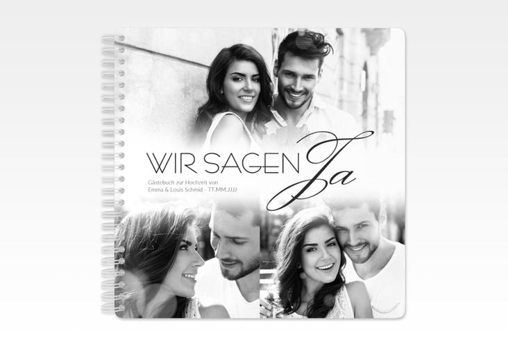 """Gästebuch Hochzeit """"Bokeh"""" Ringbindung weiss"""