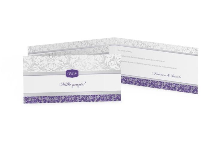 Ringraziamenti matrimonio collezione Latina DIN lang Klappkarte lila