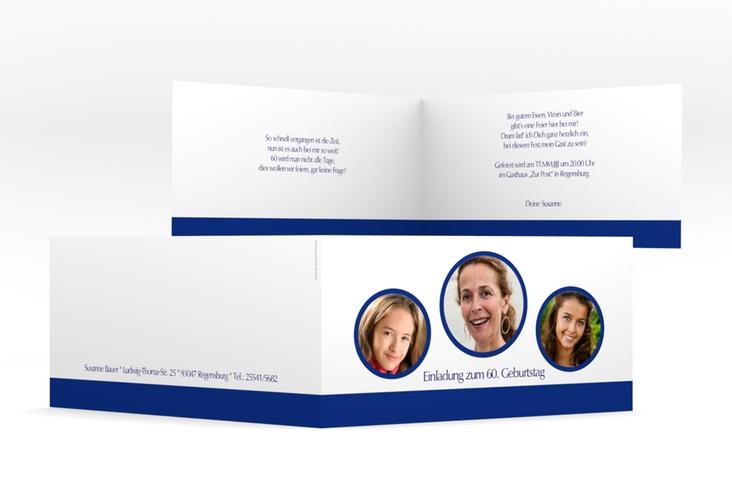 """Einladungskarte """"Anton/Antonia"""" DIN lang Klappkarte"""
