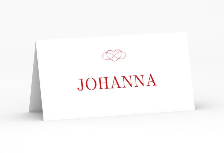 """Tischkarte Hochzeit """"Infinity"""" Tischkarten rot"""