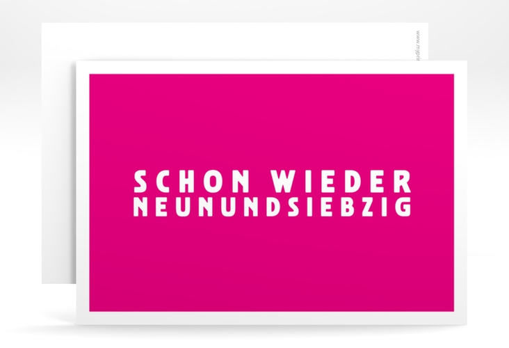 "Einladungskarte ""Gag"" A6 quer pink"