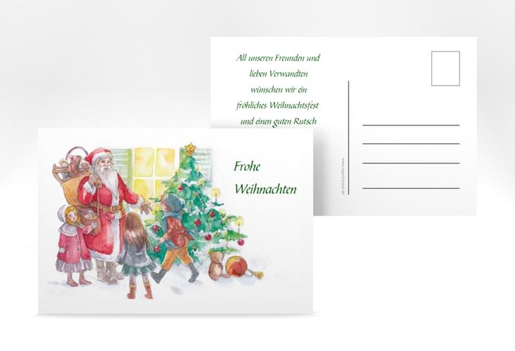 "Weihnachtskarte ""Bescherung"" A6 Postkarte"