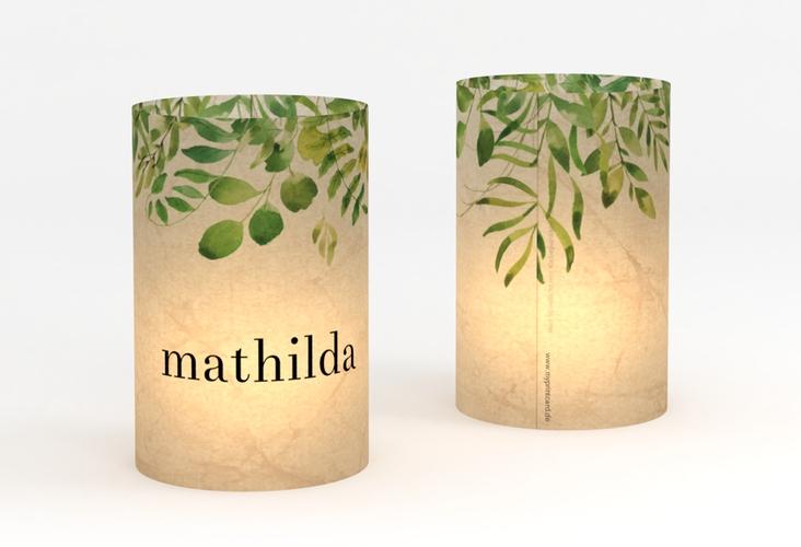 """Windlicht Hochzeit """"Botany"""" Windlicht beige"""
