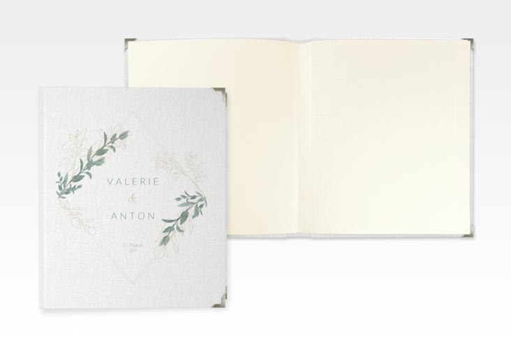"""Hochzeitsalbum """"Verde"""" 21 x 25 cm weiss"""