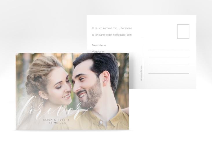 "Antwortkarte ""Promise"" A6 Postkarte weiss"